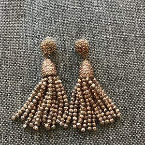 Baublebar Rose Gold tassel earrings